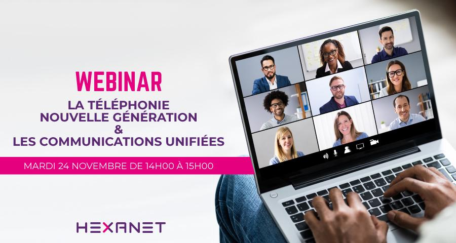 Webinar Communications unifiées le 24 novembre 2020